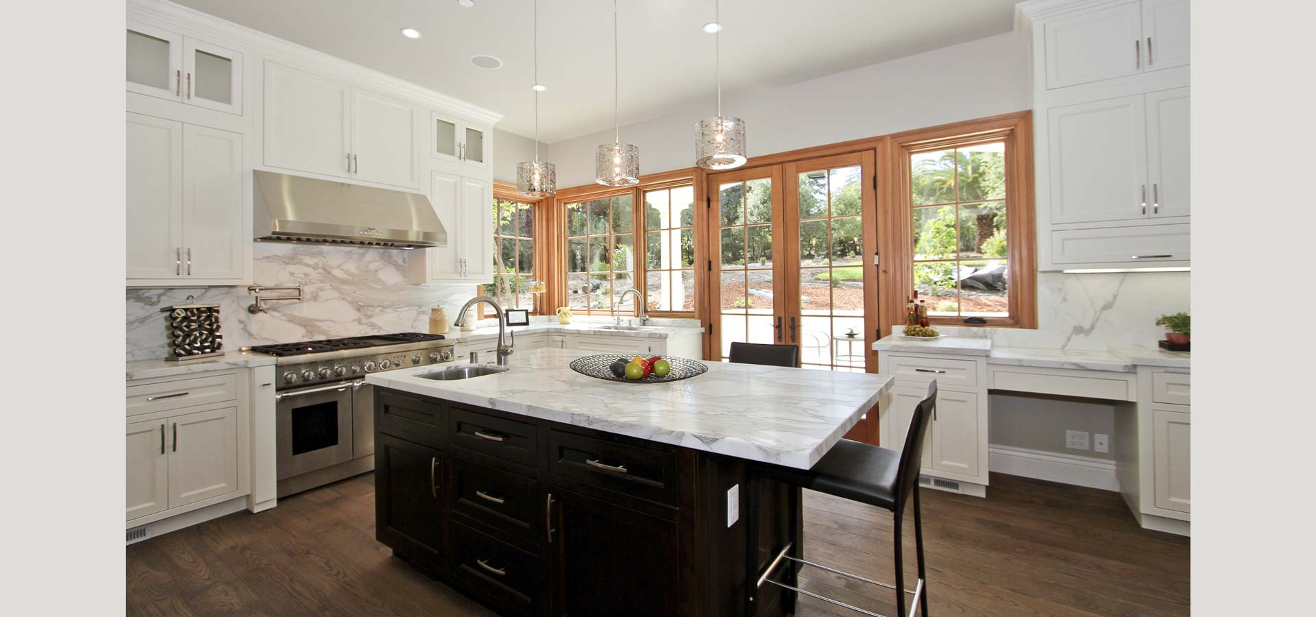 Atherton residence kitchen